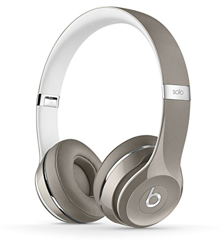 Beats Solo2 WIRED On-Ear Headphones Luxe Edition NOT WIRELESS - Silver