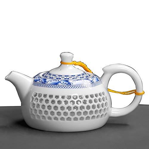 CHHU Théière en Porcelaine Bleue Et Blanche, Personnalité Créative Exquise De Style Chinois, Casserole en Céramique De Théière Kung Fu,Archaiser,Théière