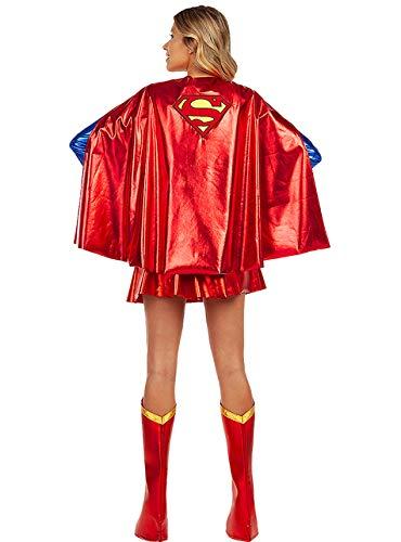 Funidelia   Capa de Supergirl Oficial para Mujer Kara Zor-El, Superhroes, DC Comics, Accesorio para Disfraz