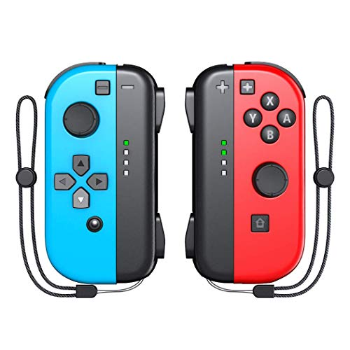 Switch Joy-Pad Controller for Nintendo Switch, KDD Joy Controllers Replacement Compatible with Nintendo Switch- Red/Blue
