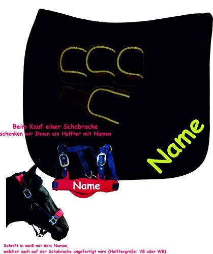 der-pferdeshop.de Schabracke mit Namen und passenden Bandagen kaufen, Halfter mit Namen geschenkt