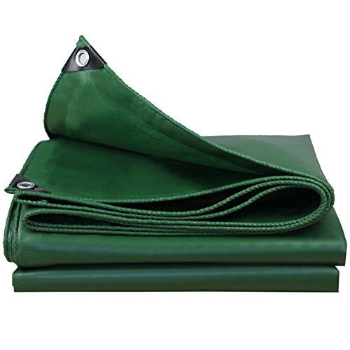 DNSJB PVC tissé à Haute densité de bâche résistante - 550g / m² / Vert - 100% imperméabilisé et UV protégé (Taille : 5x6m)