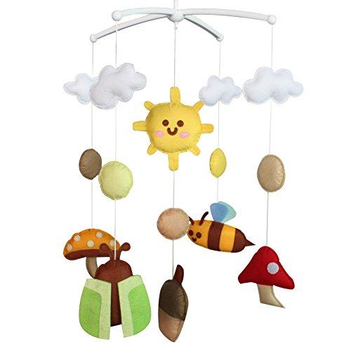 Berceau de lit de bébé rotatif coloré jouets de bébé [Monde des insectes]