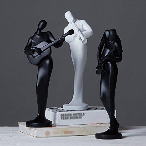 LQ Decoración Hogar Complementos Decoraciones Suaves Habitación Modelo Música Personajes Sala de Estar Adornos de cerámica Piezas Artesanía (Color : A)