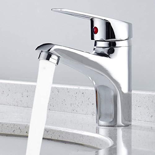 Dmqpp Moderne Wasserfall-Badezimmer-Armaturen-Bassin-Wannen-Mischer-Hahn Einhebel aus massivem Messing Heiß Kalt-Hahn, Chrom poliert Wasserhahn