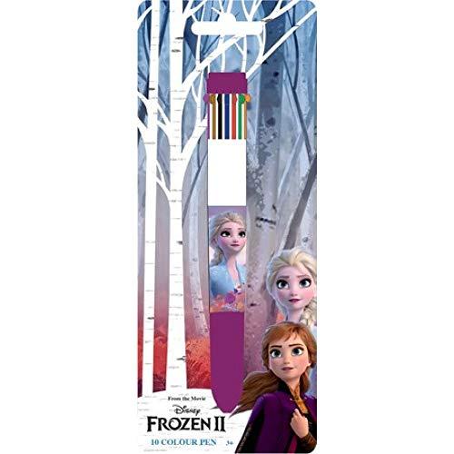 Javoli 10 Farben Stift Kugelschreiber, kompatibel zu Disney Frozen 2 die Eiskönigin 2 | Geschenk für Kinder | Mädchen | Malen | Malstift | Anna & ELSA