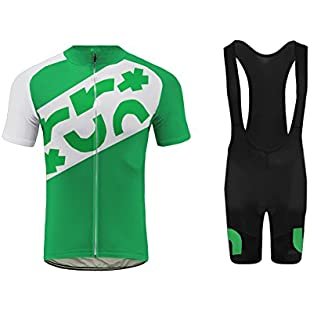 Uglyfrog Mens Clothes Set Cycling Jersey Short Sleeve Boy Mountain Bike Shirt Top & Cycling Bib Shorts 3D Gel Padded MTB Sportswear for Summer:Whiteox