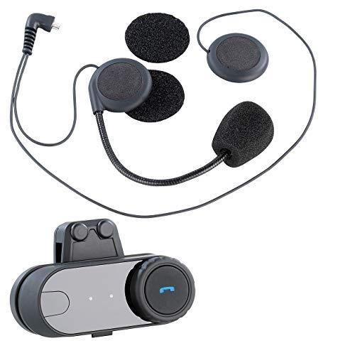 NavGear Headset Motorrad: Universal-Headset für Motorradhelme, mit Bluetooth (Kopfhörer Motorrad, Bluetooth)