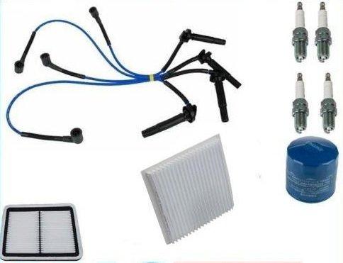 Tune Up Kit Filtros con cables enchufes para Subaru Outback Legacy ej253NGK Non California modelos