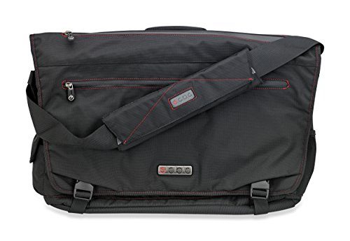 ECBC Trident Laptop Messenger Bag for 14' Laptop, TSA-Friendly, Black (B7203-10)