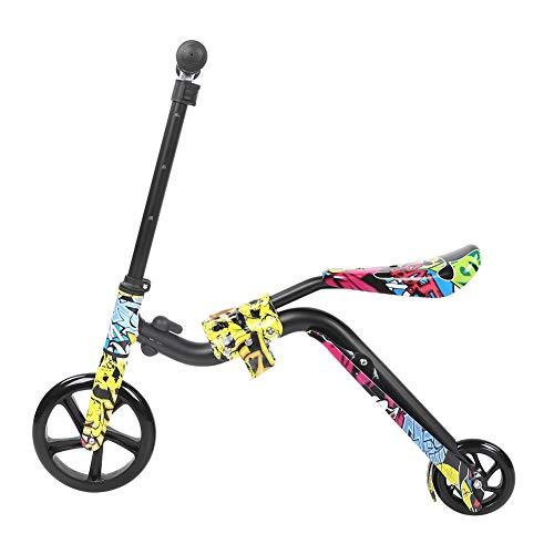 Demeras Kinder Balancing Scooter Multifunktions Balancing Scooter mit doppeltem Verwendungszweck für Jungen und Mädchen für 3-12 Jahre