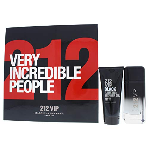 Carolina herrera 212 vip black edp 100 ml + s/gel 100 ml set regalo.