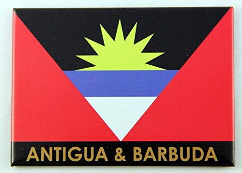 Drapeau d'Antigua et Barbuda Caraïbes réfrigérateur Collector's souvenir Aimant 6,3 x 8,9 cm