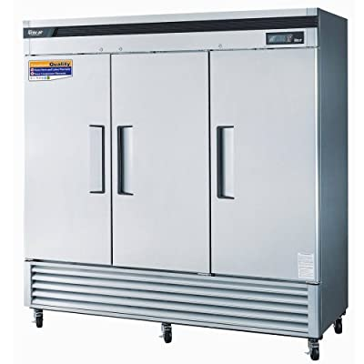 Turbo Air TSF-72SD Super Deluxe Freezer Reach-In Three-Section 72 Cu Ft.