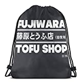 LREFON Initial D - wara Tofu Shop Sport Bag Gym Sack Mochila con cordón