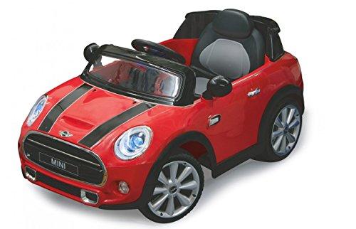 Jamara 460236 - Ride-on Mini rot 12V - Leistungsstarker Antriebsmotor und Akku für lange Fahrzeit, Ultra-Gripp Gummiring am Antriebsrad, LED-Scheinwerfer, Anschluss Audioquellen, Hupe und Motorsound