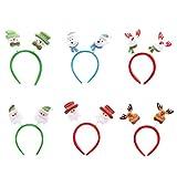 6pcs Serre-têtes Noël Bandeau Coloré Décoration Fête Noël pour Enfant Adulte