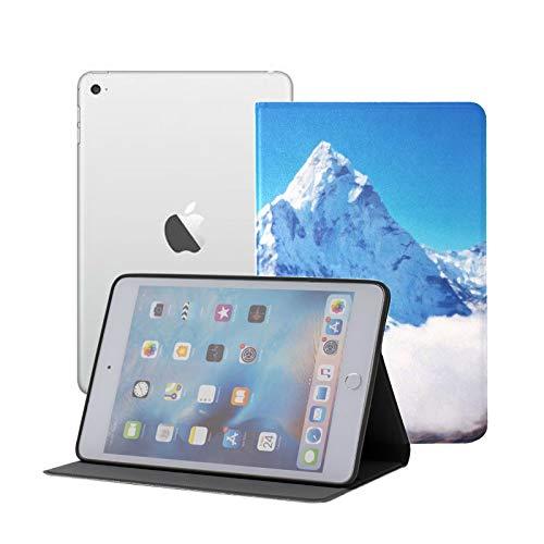 Ipad Mini Case Mountain Peak Everest Highest World National Case for Ipad Mini 3/2/1,Ultra Slim Lightweight Smart Case Cover Stand with Flexible Soft TPU Back Cover[auto Sleep/Wake]