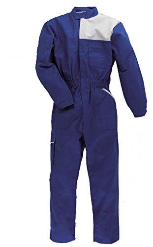 C.B.F. Balducci Tuta da Lavoro Multitasche in Poliestere E Cotone - Azzurro/Grigio (L)