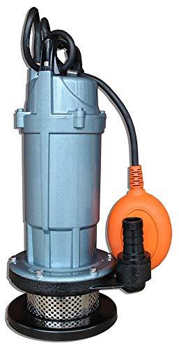 Bomba sumergible 5520 L/h, 370 W, interruptor de flotador, bomba de agua para jardín, bomba de barril de lluvia