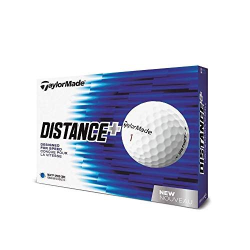 TaylorMade 2018 Distance+ Golf Ball, White (One Dozen)