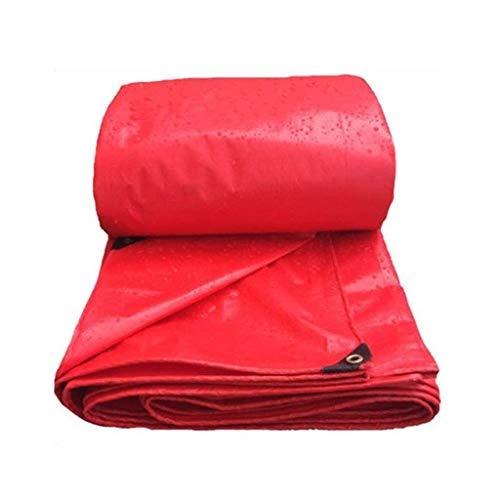 Sgfccyl dekzeil rood dekzeil waterdichte poncho dik kunststof regenzeil vaste steiger rode doek