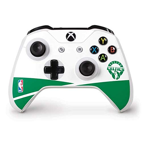 Skinit Decal Gaming Skin Compatible with Xbox One S Controller - Officially Licensed NBA Boston Celtics Split Design
