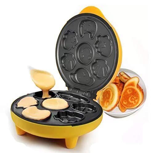 Cake Snack Maker / Waffle Maker / Donuts Maker /: Snack Maker Multifuncional Totalmente Automático Mini Desayuno Infantil Scones De Dibujos Animados Desayuno Horneado Pan Para Niños Bebé Niño Uk Plug