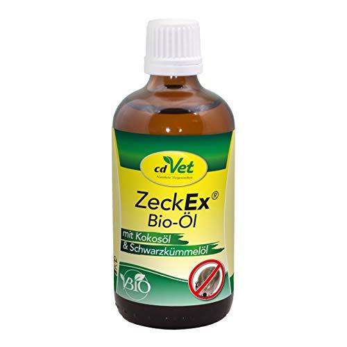 cdVet ZeckEx Bio-Öl Futter-Ergänzungsmittel für Hunde 100 ml - 100% natürliche Zeckenabwehr durch fütterungsbedingte Unterstützung des Hautstoffwechsels