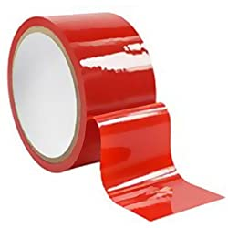 Shiny bondage tape red.