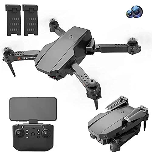 Drone pieghevole con fotocamera per adulti 4K HD FPV Live Video, controllo dei gesti, selfie, mantenimento dell'altitudine, modalità senza testa, capovolgimenti 3D, quadricottero per bambini princip