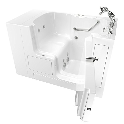 "American Standard Gelcoat Value Whirlpool 32""x52"" Right Side Outward Door Walk-In Bathtub in White"