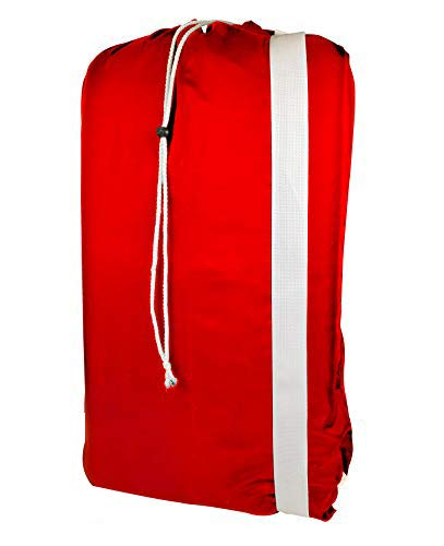 Nylon Laundry Bag with reliable Shoulder Strap - 30 X 40 - 100 Nylon for Heavy Duty Use College Laundry Bags Laundromat and Household Storage machine washable - Made in the USA