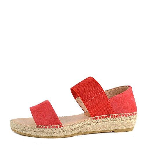 Kanna Zapatos ADA Sandalias Rojo Mujer Red 39