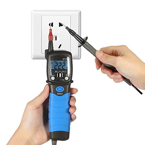 LIRRUI Multímetro Digital portátil LCD Instrumento eléctrico Medidor de Voltaje CC/CA Resistencia Diodo Probador de continuidad Luz de Fondo