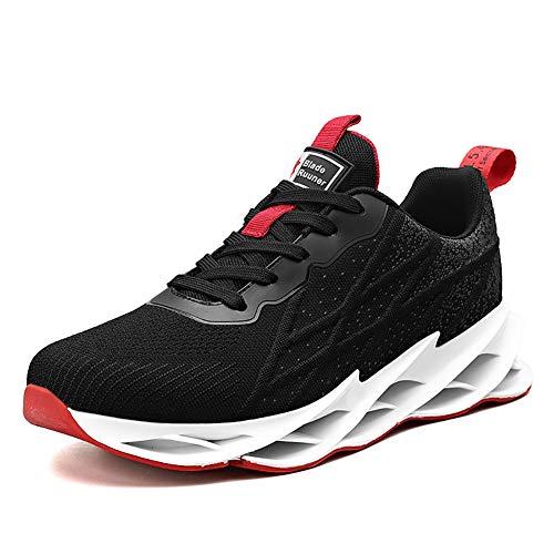 Zapatos para Correr Tenis para Hombres Calzado Deportivo Casual Running Gym Outdoor Black Red44