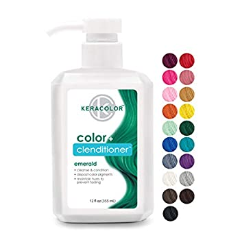 Keracolor Clenditioner EMERALD Hair Dye - Semi Permanent Hair Color Depositing Conditioner Cruelty-free 12 Fl Oz.