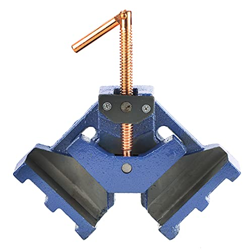 ATPEAM Cast Iron Welders Angle Clamp Heavy Duty Two Axis Welding Clamp Right Angle 90 Degrees Clamp Self Centering Jig and Fixture Clamp for Woodworking