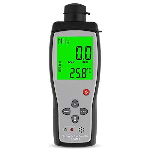 Equipo Sensor Inteligente Detector portátil de Gas amoniaco NH3 Medidor Probador Rango de Monitor 0-100PPM Luz de Sonido Alarma Analizadores de Gas
