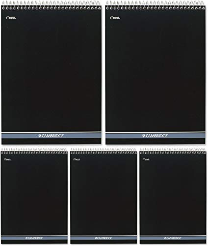 Cambridge Wirebound Numbered Legal Pad, 8.5 X 11 Inches, 70 Sheets (59006), White, 12.6' x 8.5' x 0.4' - 5 Pack