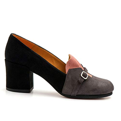 AUDLEY - Medium Heeled Audley Thais Shoes in Suede