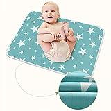 2 STÜCKE Wasserdichte Wickelauflage Baby Urin, Wickelauflage und Kleidung, Faltbare, Tragbare, Baby Matratze Waschbar Kinderbett