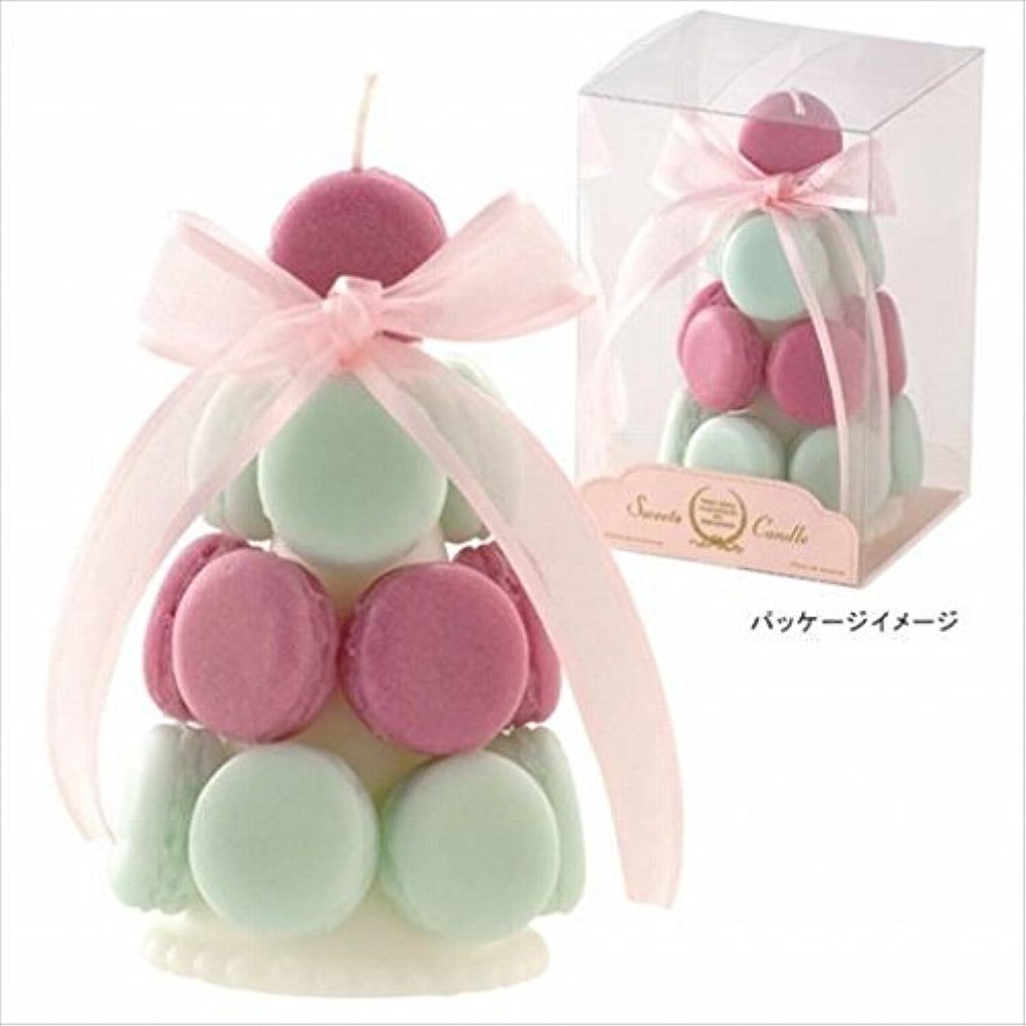 特権的表面広々としたカメヤマキャンドル( kameyama candle ) ハッピーマカロンタワー 「 メロングリーン 」
