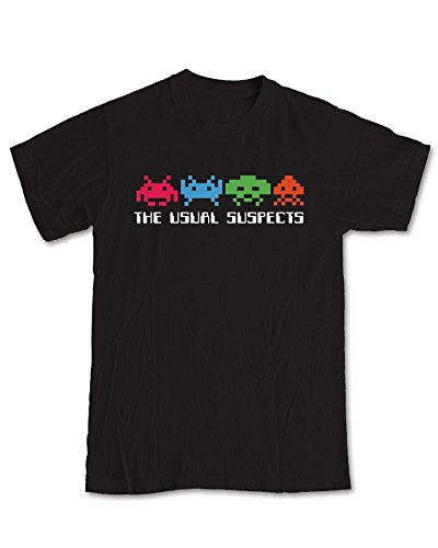 Men's Funny The Usual Suspects Space Invaders T-shirt, S to XXL