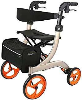 Shopping Cart Seniors Walking Frame Aid Mobility Trolley Stroller Lightweight Scooter Cart Foldable with Seat And Bag