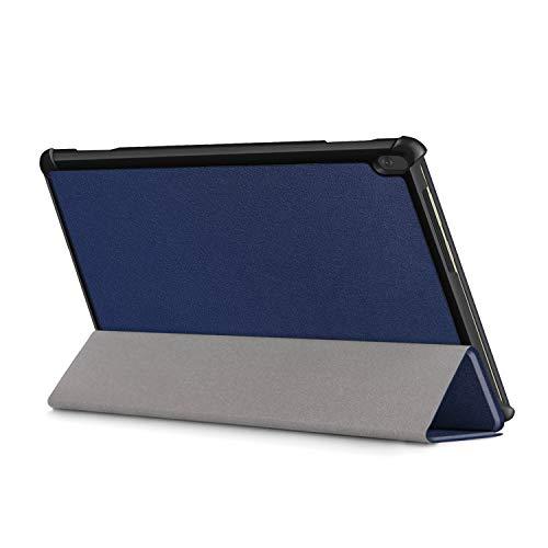 XITODA Hülle Kompatibel mit Lenovo Tab M10 TB-X605/TB-X505,PU Leder Tasche mit Stand Funktion Schutzhülle für Lenovo Tab M10 TB-X605F/L TB-X505F/L Case Cover,dunkelblau