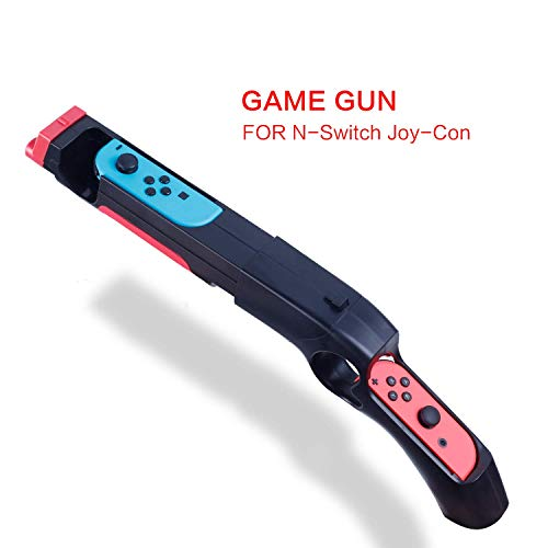 HEATFUN Game Gun Controller Compatible with Nintendo Switch Shooting Games Wolfenstein 2: The New Colossus, Big Buck Hunter Arcade - Nintendo Switch and Other Shooting Games - 1 Pack