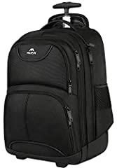 COMPARTMENT: School rolling backpack built-in separate laptop pocket hold Laptops less than 15.6 Inch as well as 15 Inch, 14 Inch and 13Inch Macbook; 36L Large Main Compartment roomy hold books for school or clothing for trip; Second zippered file co...