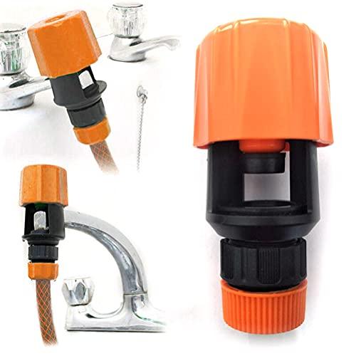 Conector de tubería de cocina Grifo de baño a manguera Adaptador universal de grifo de agua para manguera de jardín, adaptador de cocina para uso en interiores y exteriores