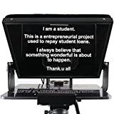 12 inches Teleprompters for Tablets, Making Video Programs, Live Streaming,Professional Tool to Prompt The Blogger's Lines, Equipped with Custom Suitcase